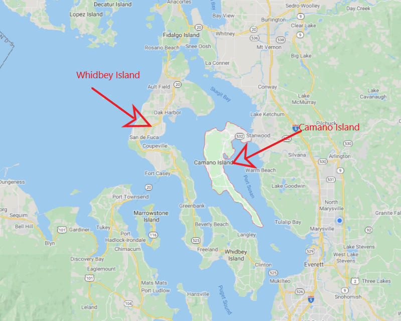 What is the Difference Between Whidbey and Camano Island?