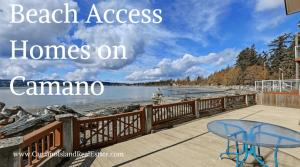 Beach Access Homes on Camano Island