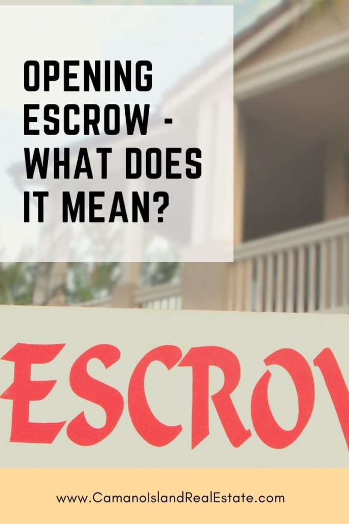 Opening Escrow - What Does it Mean?